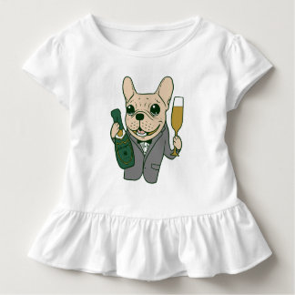 Enjoy Champagne with Frenchie at Your Celebration Toddler T-Shirt