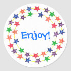 Enjoy, Circle of colourful stars stickers