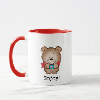 Enjoy - cute bear on a mug. mug
