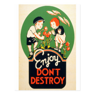Enjoy, Don't Destroy Postcard