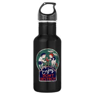 Enjoy don't destroy the earth earth day 532 ml water bottle