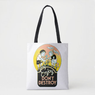 Enjoy Don't Destroy vintage graphic Tote Bag