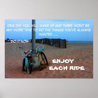 Enjoy Each Ride Poster
