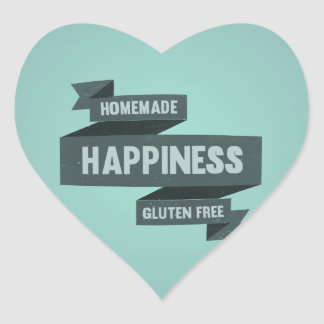 Enjoy homemade happiness, now gluten free heart sticker