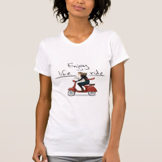 Enjoy life and ride vespa T-shirt