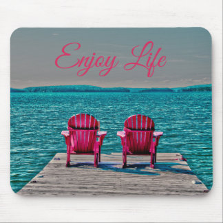 Enjoy Life At The Cottage Mouse Pad