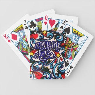 Enjoy life bicycle playing cards