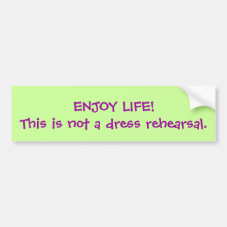 ENJOY LIFE! BUMPER STICKER