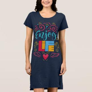 Enjoy Life Inspirational Womens T-Shirt Dress
