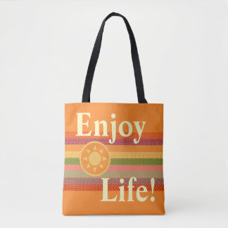 Enjoy Life Sun Logo Multicolor Band Tote