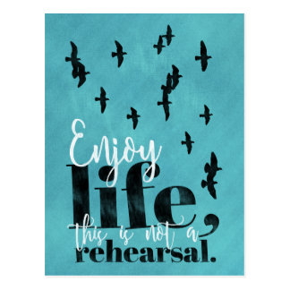 Enjoy life - sweet life quote postcard