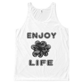 """Enjoy Life"" Unisex Tanktop All-Over Print Singlet"