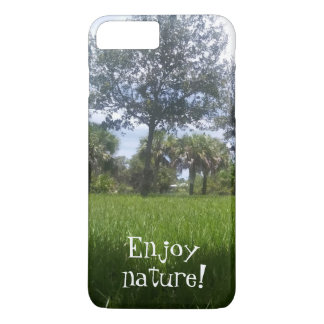 Enjoy nature Beautiful Green Nature Park Print iPhone 8 Plus/7 Plus Case