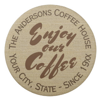"""""""Enjoy Our Coffee"""" Family or Business Eraser"""