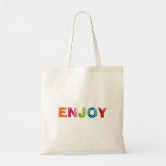 Enjoy Rainbow Tote Bag