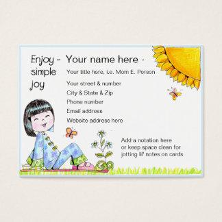 Enjoy Simple Joy biz' card