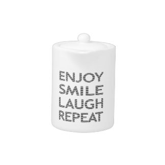ENJOY SMILE LAUGH REPEAT - strips-black and white.