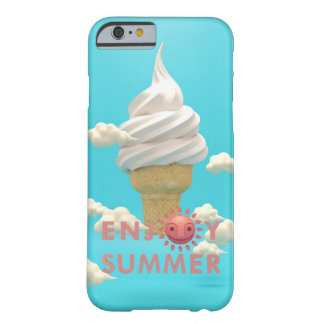 ENJOY SUMMER iphone 6 case Ice Cream Pink White Barely There iPhone 6 Case