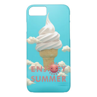 ENJOY SUMMER iPhone 7 case Ice Cream Pink White