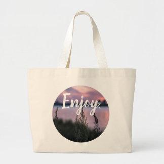 """""""Enjoy."""" Sunset Tote Bag"""