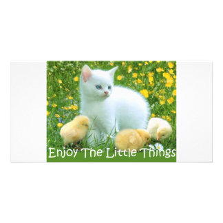 Enjoy The Little Things Cute Animals Photo Card