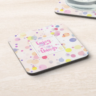 Enjoy the Little Things Quote | Coaster