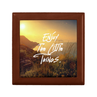"""""""Enjoy the little Things""""  Quote Sunset Sea View Gift Box"""