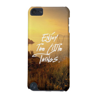 """Enjoy the little Things""  Quote Sunset Sea View iPod Touch (5th Generation) Cover"