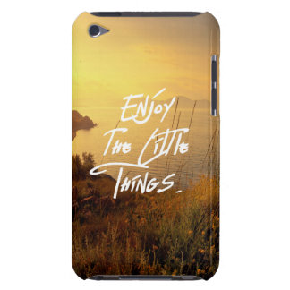 """Enjoy the little Things""  Quote Sunset Sea View iPod Touch Case"