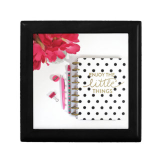 Enjoy the Little Things Small Square Gift Box