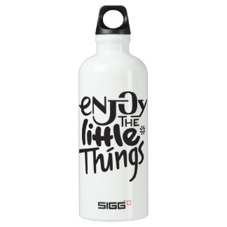Enjoy the little things - water bottle SIGG traveller 0.6L water bottle