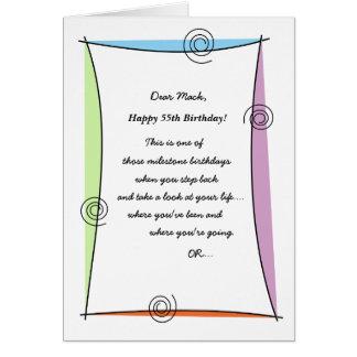 Enjoy the moment 55th Birthday Card