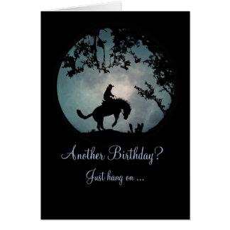 Enjoy the ride Cowboy Birthday Card