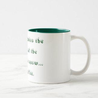 Enjoy the silence with your coffee... Two-Tone coffee mug