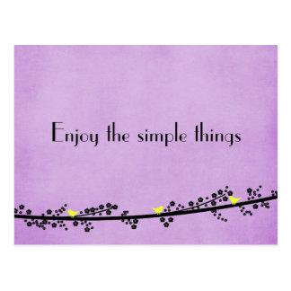 Enjoy the Simple Things Postcard