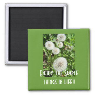 Enjoy the Simple things Square Magnet