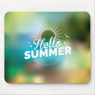 enjoy the summer holiday mouse pad