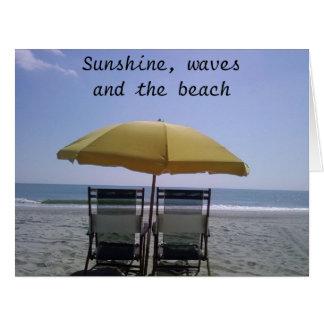 ENJOY THE SUN THE WAVES/YOUR HONEYMOON CARD