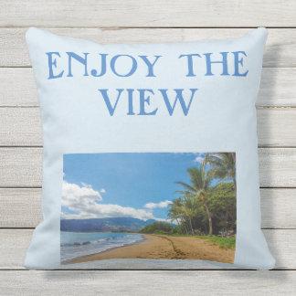ENJOY THE VIEW outdoor pillow