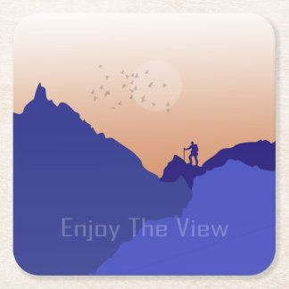 Enjoy the View Square Paper Coaster