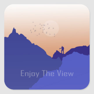 Enjoy the View Square Sticker