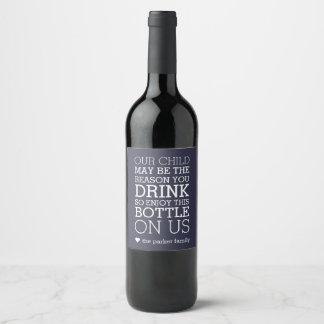Enjoy This Bottle On Us   Teacher Gift Wine Label