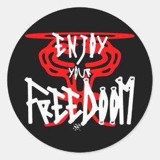 Enjoy your FreeDoom Classic Round Sticker