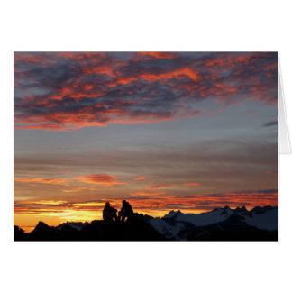 Enjoying a Camp 17 Sunset notecard - blank inside