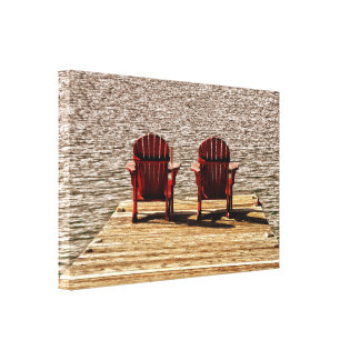 Enjoying Life At The Cottage Canvas Print