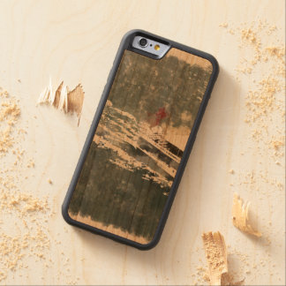 Enjoying on a fast boat carved cherry iPhone 6 bumper case