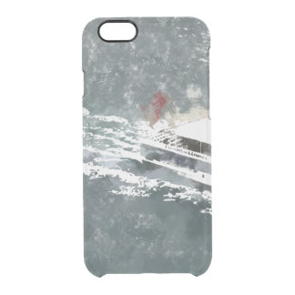 Enjoying on a fast boat clear iPhone 6/6S case