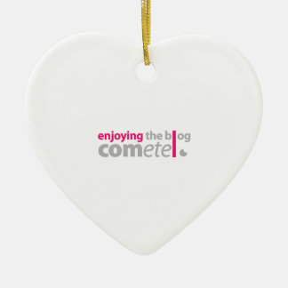 Enjoying the blog Commits the point Ceramic Heart Decoration
