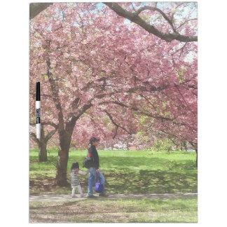 Enjoying the Cherry Trees Dry Erase Board