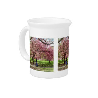 Enjoying the Cherry Trees Pitcher